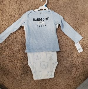 Size 24 months onesie and pj shirt NWT